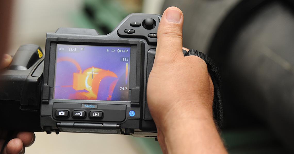 cámara termográfica industrial